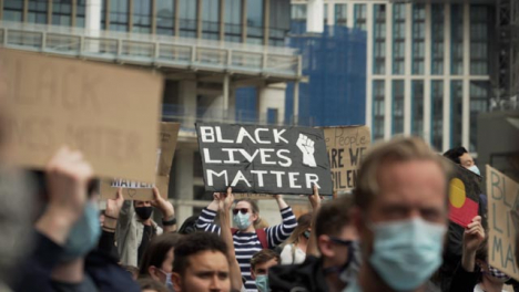 Protestor-Holds-Up-BLM-Sign-During-London-Protests