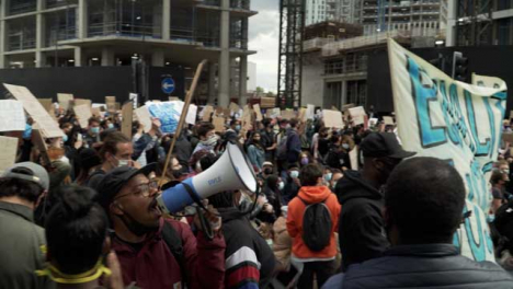 BLM-London-Protestor-With-Megaphone-Leads-Chants