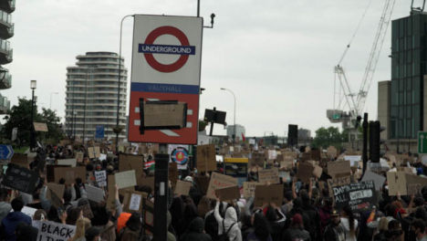 BLM-Protestors-March-Holding-Signs-in-Vauxhall-London