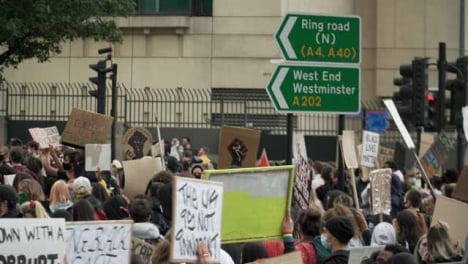 BLM-Protestors-in-London-Marching-Towards-Westminster