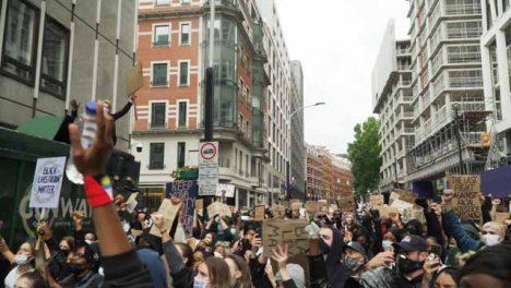 London-Black-Lives-Matter-Protesters-Rally-Around-Inspiring-Activist