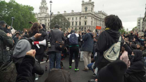 London-Activist-Inspiring-Group-of-Anti-Racism-Protesters