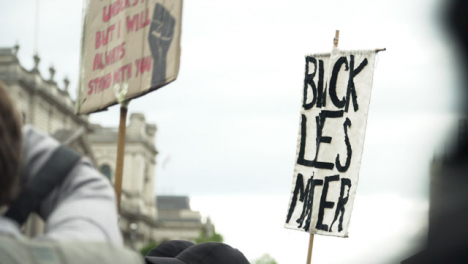London-Black-Lives-Matter-Sign-in-the-Air