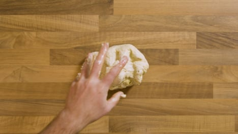 Top-View-Sticky-Dough-Put-on-Worktop