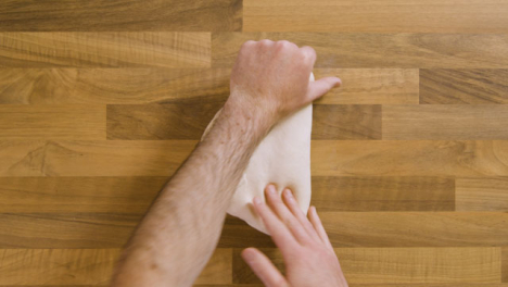 Top-View-Male-Kneading-Dough