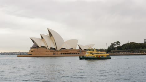 Sydney-Opera-House-with-Ferry-Passing