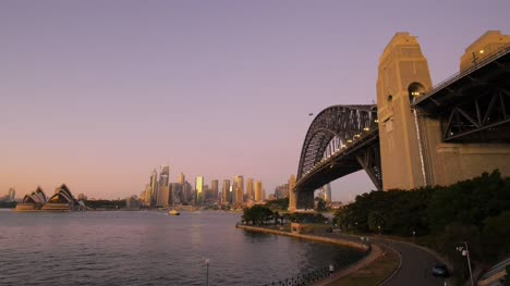 Sydney-Bridge-Harbour-as-Light-Go-Off