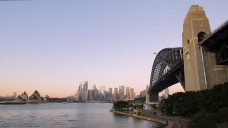 View-of-Sydney-Harbour-Bridge-in-Morning