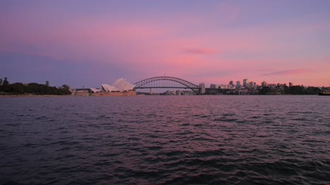View-of-Sydney-Harbour-Bridge-at-Dawn