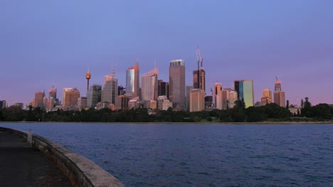 Sydney-City-at-Sunrise-Across-Water