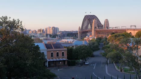 View-of-Empty-Street-with-Sydney-Bridge