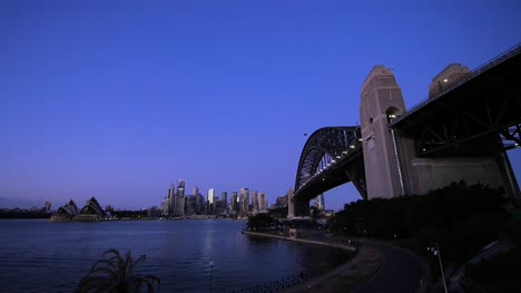 Sydney-Bridge-Harbour-From-Milsons-Point-at-Dawn