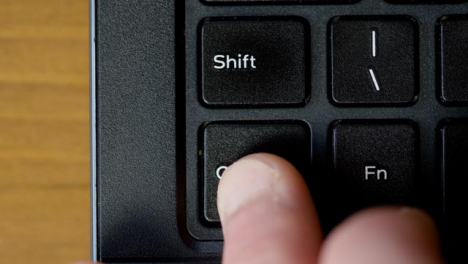 Top-View-Finger-Pushing-Ctrl-Keyboard-Button