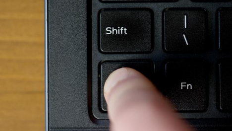 Finger-Pushing-Ctrl-Keyboard-Button-Top-View