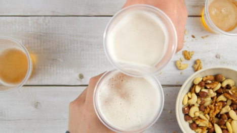 Top-View-Picking-Up-Cup-of-Beer-and-Toasting-Drinks