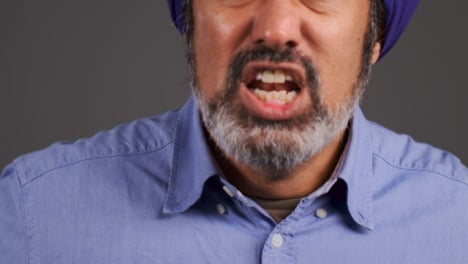 Middle-Aged-Man-In-Turban-Shouting-Portrait