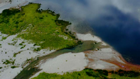 Aerial-Drone-Shot-of-Loch-Achtriochtan-in-Glen-Coe