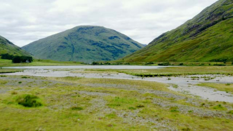 Aerial-Drone-Shot-of-Loch-Achtriochtan-in-Glen-Coe-Scotland-03