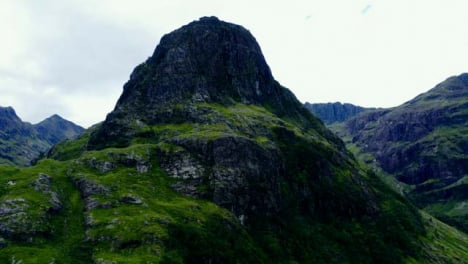 Aerial-Drone-Shot-of-Gearr-Aonach-in-Glen-Coe-Scotland