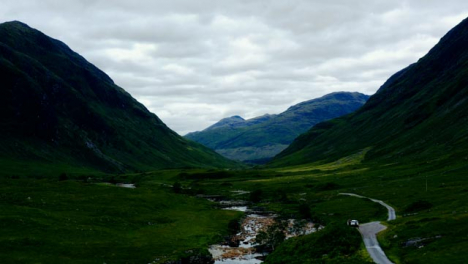 Aerial-Drone-Shot-of-Glen-Etive-Valley-in-Scotland-01