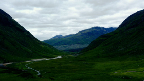 Aerial-Drone-Shot-of-Glen-Etive-Valley-in-Scotland-02