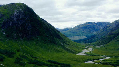 Aerial-Drone-Shot-of-a-Glen-Etive-Valley-in-Scotland-02