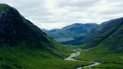 Aerial-Drone-Shot-of-a-Glen-Etive-Valley-in-Scotland-03