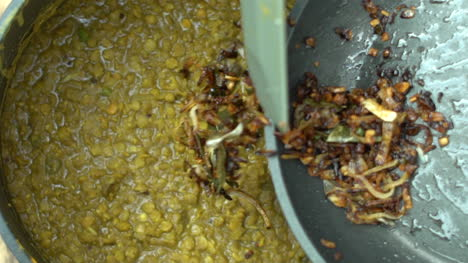 Extreme-Close-Up-of-Frying-Pan-Contents