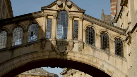 Low-Angle-Shot-of-Hertford-College-Bridge-of-Sighs-In-Oxford