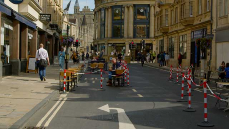 Tracking-Shot-of-Closed-Road-to-Help-Social-Distancing-In-Oxford-