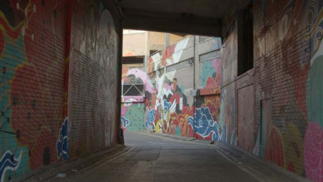 Building-Walls-Covered-in-Graffiti-