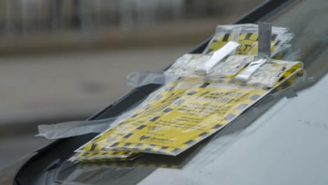 Several-Parking-Fines-on-Car