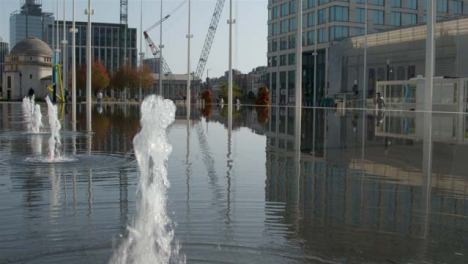 Tracking-Shot-Over-Water-Fountain-In-Centenary-Square