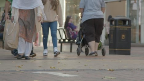 Defocused-Shot-of-Feet-Walking-In-Busy-Street-In-Birmingham
