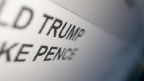 Tracking-Close-Up-of-Donald-Trump-Name-on-US-Election-Ballot-Paper