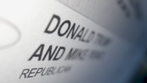 Tracking-Close-Up-Donald-Trump-Name-on-Ballot-Paper-for-US-Election