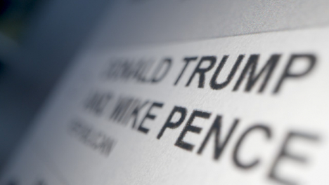 Tracking-Close-Up-of-Trump-Name-on-Ballot-Paper-for-US-Election
