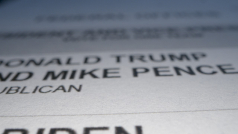 Tracking-Close-Up-of-US-Election-Ballot-Paper