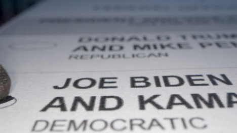 Tracking-Close-Up-a-Vote-for-Joe-Biden-on-Ballot-Paper