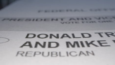 Tracking-Close-Up-to-Donald-Trump-Name-on-Ballot-Paper-for-US-Election