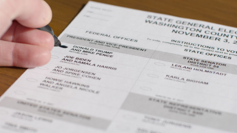 Close-Up-Hand-Voting-for-Donald-Trump-on-Ballot-Paper-in-US-Election