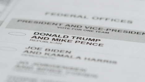 Extreme-Close-Up-of-Donald-Trump-Name-on-US-Election-Ballot-Paper