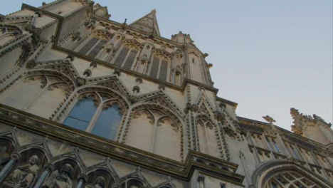 Low-Angle-Shot-of-St-Mary-Redcliffe-Church-In-Bristol-England
