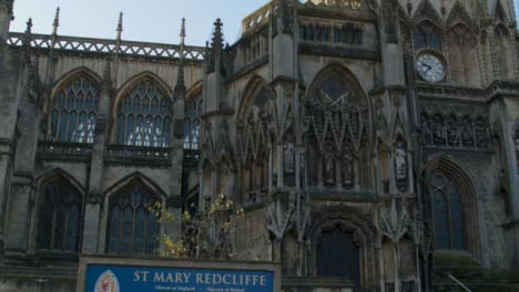 Tilting-Shot-of-St-Mary-Redcliffe-Church-In-Bristol-England-
