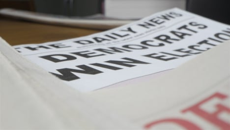 Close-Up-Democrats-Win-Election-Newspaper-Headline