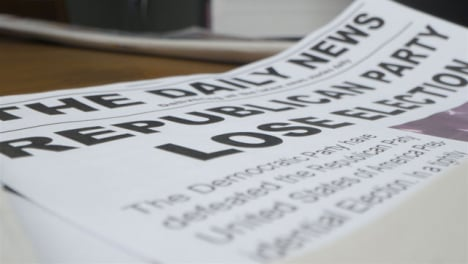 Tracking-Close-Up-Republican-Party-Lose-Election-Newspaper-Headline