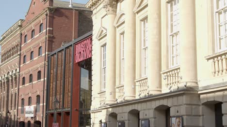 Sliding-Shot-of-the-Bristol-Old-Vic-Theatre-In-Bristol-England