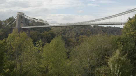 Rising-Shot-of-Clifton-Suspension-Bridge-In-Bristol-England