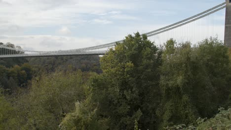Panning-Shot-of-Clifton-Suspension-Bridge-In-Bristol-England