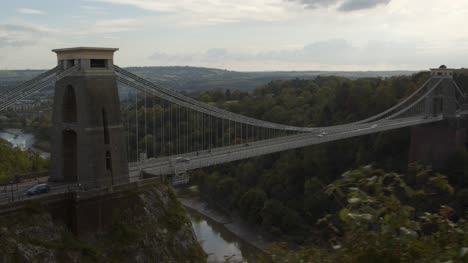 Sliding-Shot-of-Bristols-Clifton-Suspension-Bridge-In-England